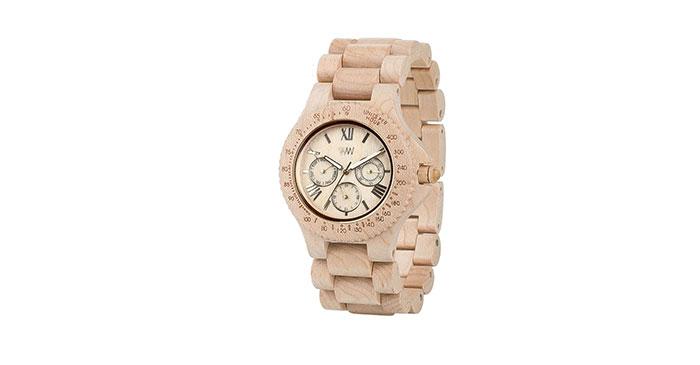 Groene geschenken houten horloge