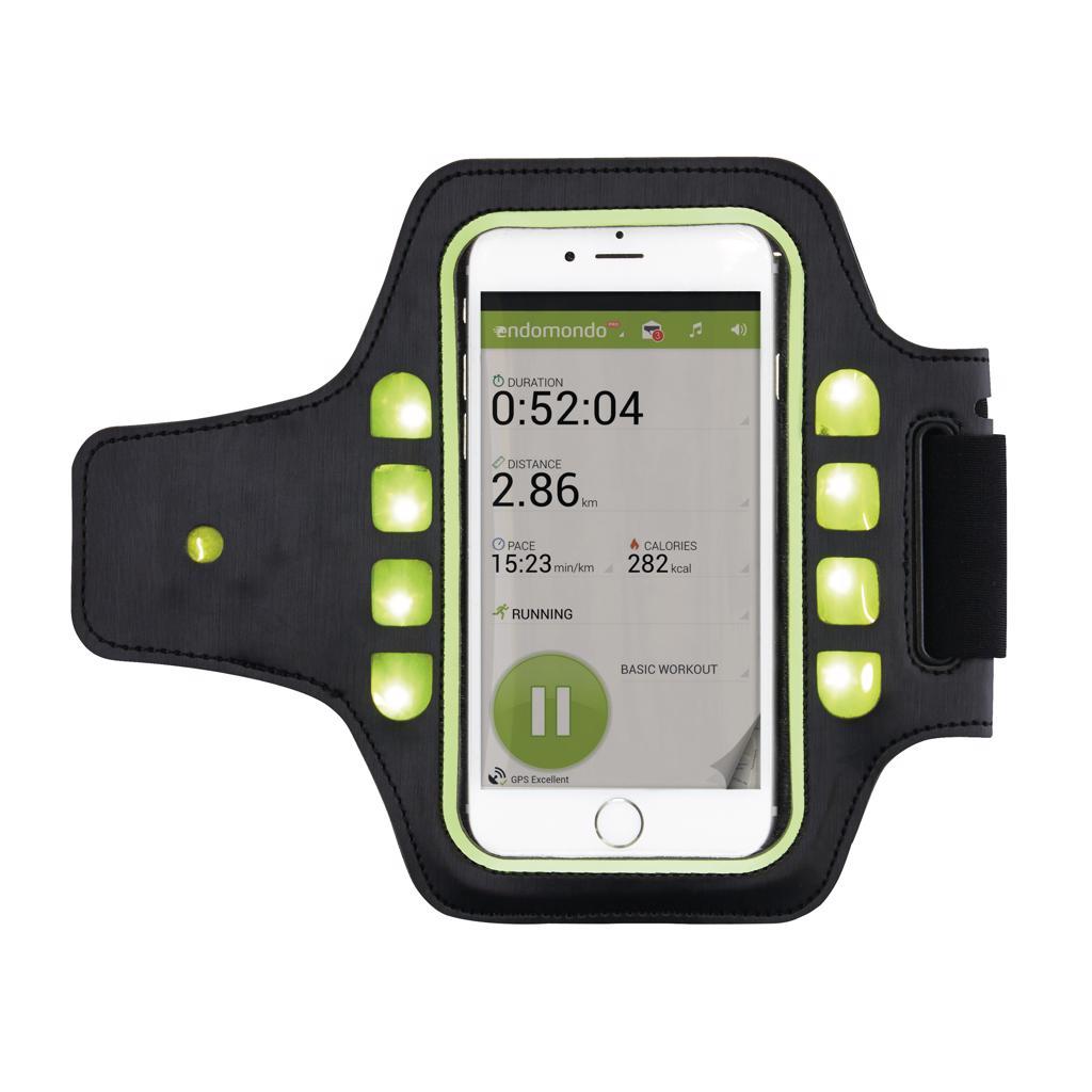 Sport armband met LED verlichting, zwart – Strikwerda & Smit ...